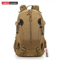 MAGIC UNION Men And Women Unisex Military Backpack Canvas Bag Trekking Rucksacks 40L Backpacks Men Backpacks
