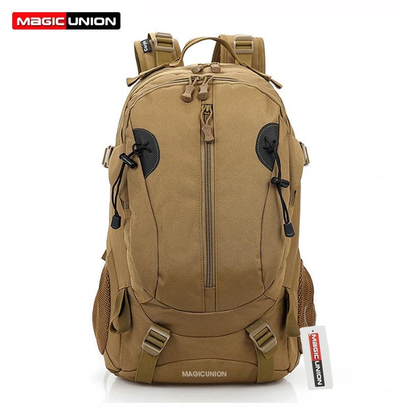 MAGIC UNION Men Military Backpack Canvas Bag Hiking Trekking Rucksacks 40L Backpacks Men Camping Backpacks Travel Bags Fashion