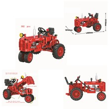 2019 new hot Creative 7070 302pcs classic old tractor compatible legoings jigsaw puzzle tile children's toys gifts(China)
