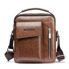 a76caf41e397 Мужская сумка 2019 Новая модная английская стильная кожаная сумка через  плечо Мужская винтажная Повседневная сумка на