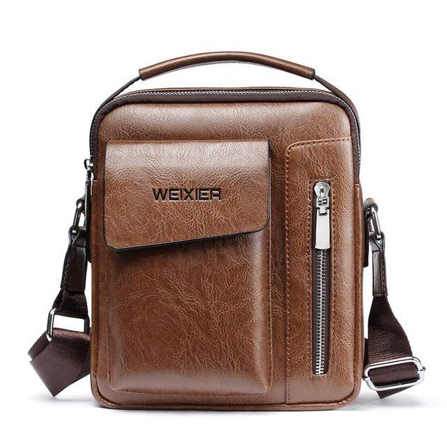 Men bag 2019 new fashion england style crossbody leather messenger bag men vintage casual shoulder men bags zipper man handbags
