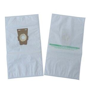 Image 3 - كلينفيري مكنسة كهربائية حقائب متوافقة مع كيربي سنتريا حقيبة عالمية F ستايل هيبا حقيبة قماش أبيض (10 حقائب)