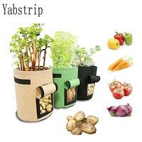Casa jardim respirável batata tomate vegetal moestuin planta crescimento saco jardin jardim vertical crescer saco pote|Sacos crescimento|   -