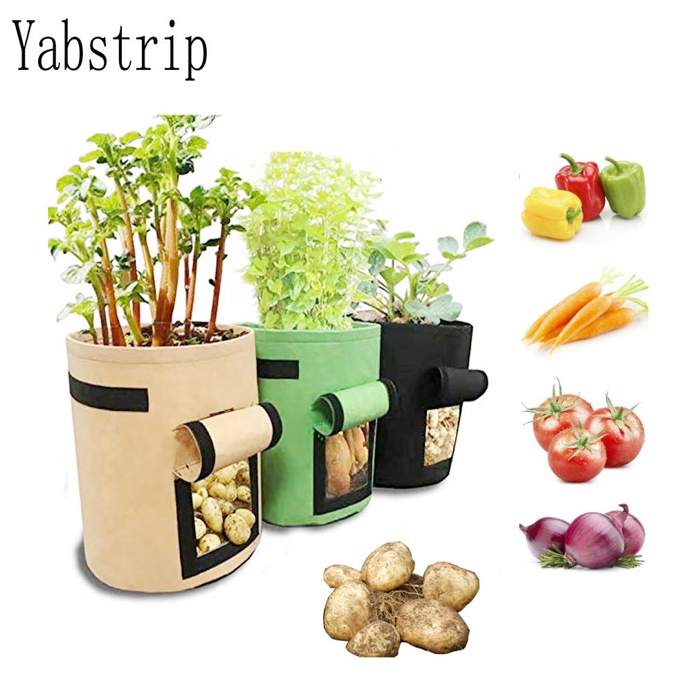 Home Garden Breathable Potato Tomato Vegetable Moestuin Plant Growth Bag Jardin Vertical Garden Grow Bag Pot