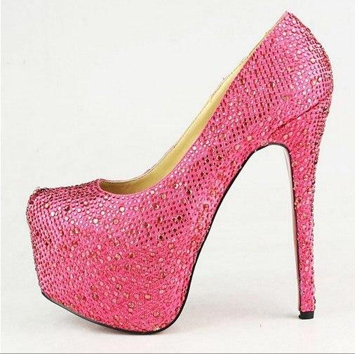 Fashion Lady Hot Sexy High Heel Pump Platform Stiletto Shoes ...