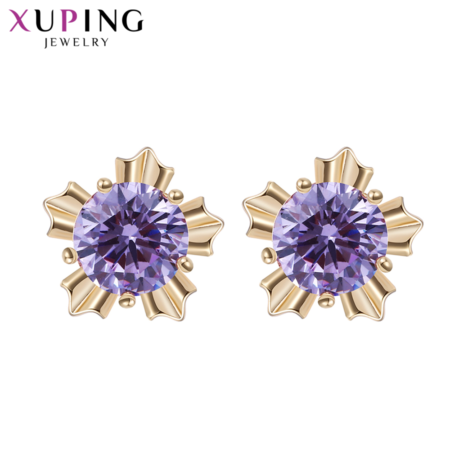 Xuping Elegant Earring New Design Gold Gold Plated Brand Fashion - Bisutería - foto 5