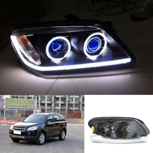 Headlights For Chevrolet Captiva Bi-xenon Projector Angel Eyes Demon HALO 07-09 chevrolet captiva fl в москве