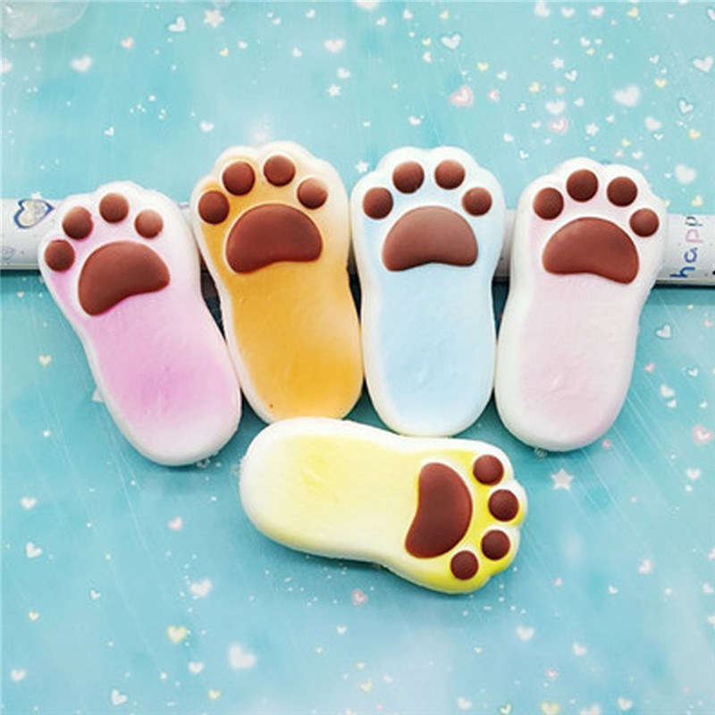 1PC Random Ankle Bread Rising Collection Squeeze Stress Reliever Toy Gift Stress Relief Slow Rising Squishies Toys