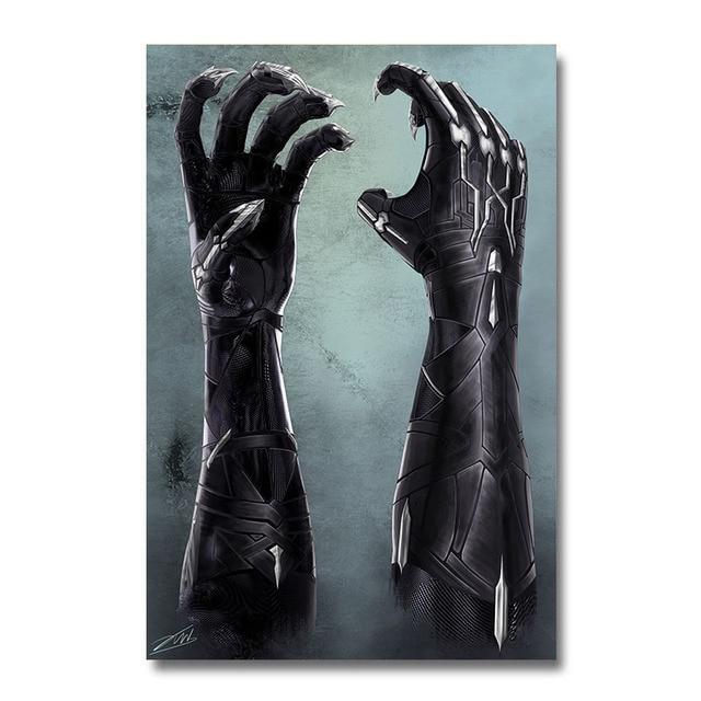 Плакат гобелен Черная пантера 2 Шелк