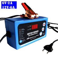 6V 12V Smart Car Automotive Battery Charger Automatic 2A 6A Rechargeable Lead Acid Power Charging Tool 6V 12V With EU US Plug 12 6v 1a eu plug lithium battery charger charger 12 6v power adapter charger with wire lead dc 5 5 2 1mm