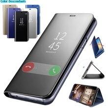 Умный зеркальный чехол для телефона для Xiaomi 8 8SE F1 A1 A2 Lite 5X Redmi 6 6X 6A 5 Plus 3 Note 5 5A 4X Clear View с откидной крышкой для задней панели чехол s