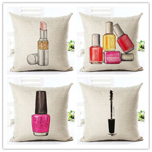 Fashion Cushion Lipsticker Pillow Perfume bottle Decorative Linen Cotton Sofa Car Chair CushionsThrow cojines