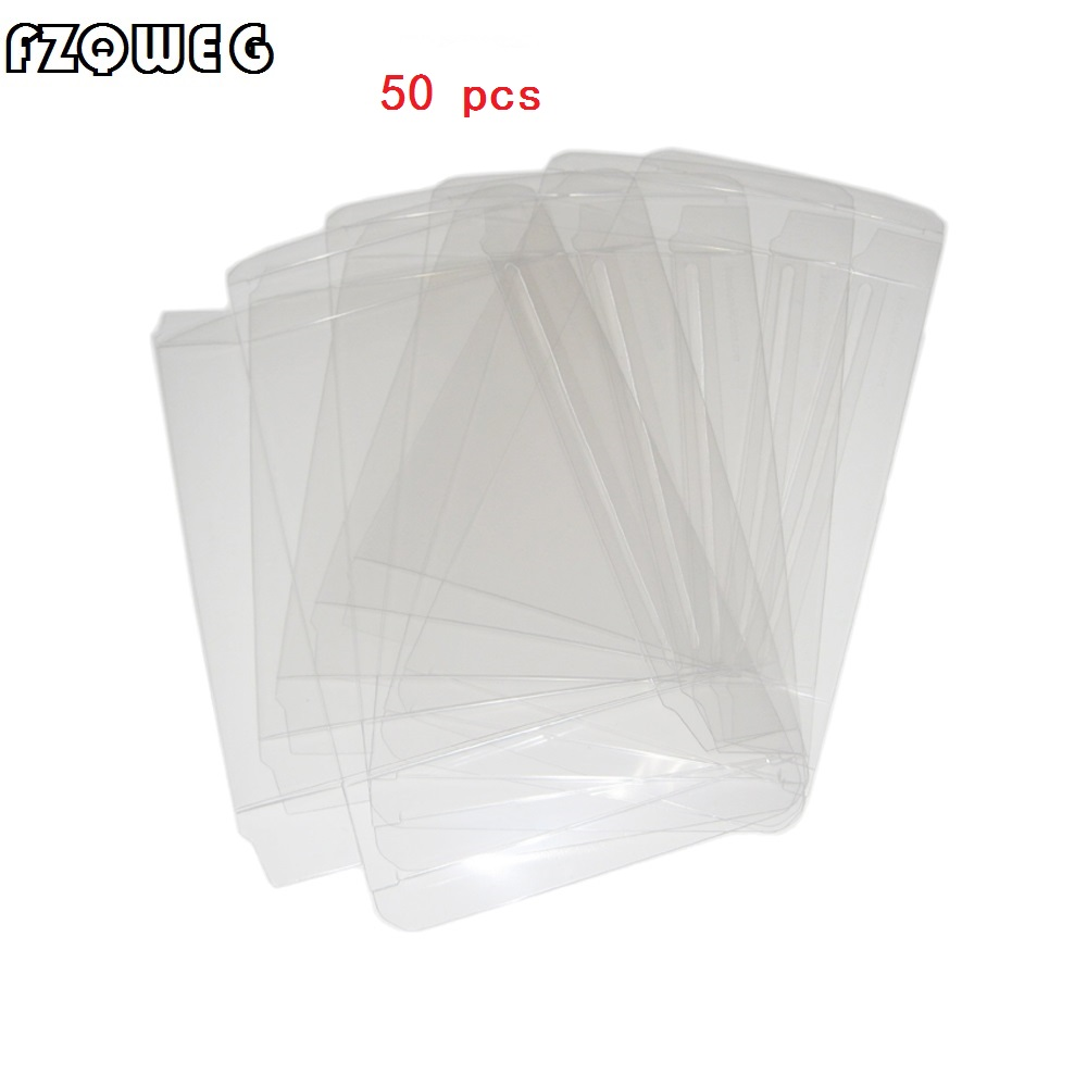 FZQWEG 50 pcs Transparent Clear for SNES For N64 Game box Protector Case games plastic PET Protector game boxes image