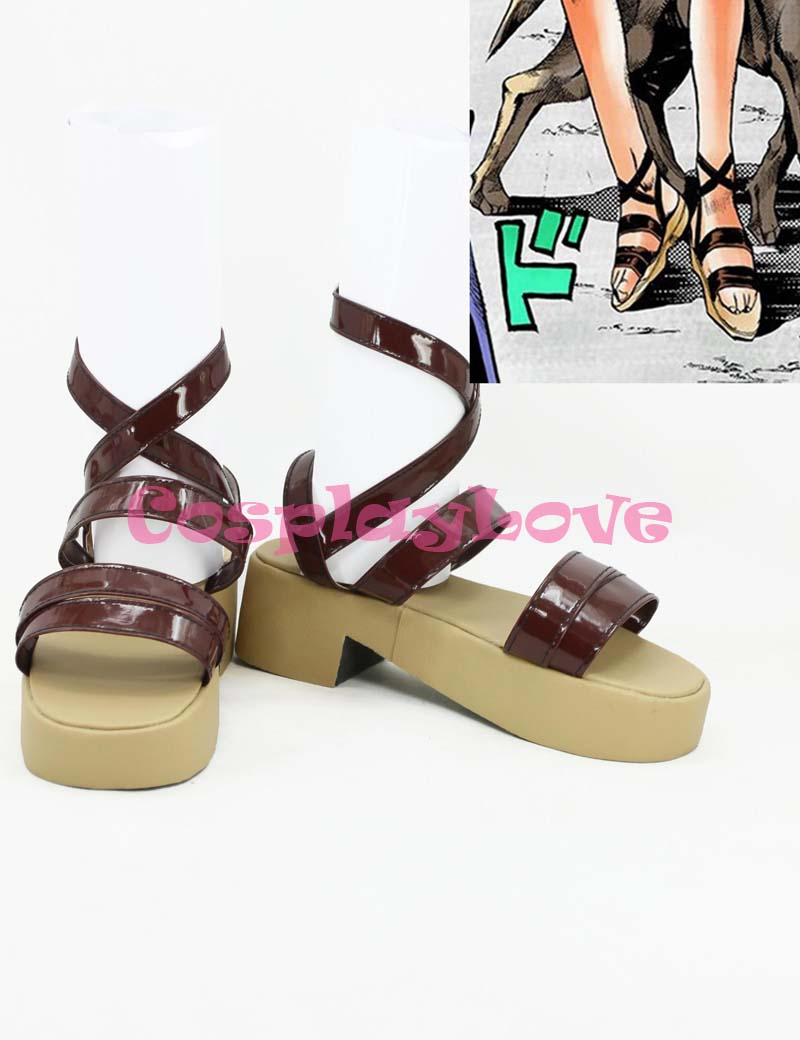 Newest Custom Made Japanese Jojo Bizzare Adventure Sandal Cosplay Shoes Long Boots For Christmas Halloween Festival