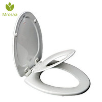 High Quality White Round Bathroom Adult Toilet Seat with Built in Child Potty Training Seat Elongated White Toilet Seat Cover