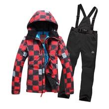 FREE SHIPPING,waterproof 10K,2016 women ski suit ladies insulation skiwear set jacket and pants,skiing snowboard suit