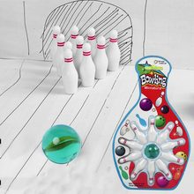Kids Mini Desktop Toy Bowling Game Set Parent-Child Interaction Sports Toys for Children Developmental Indoor Bowling Pin Toy(China)