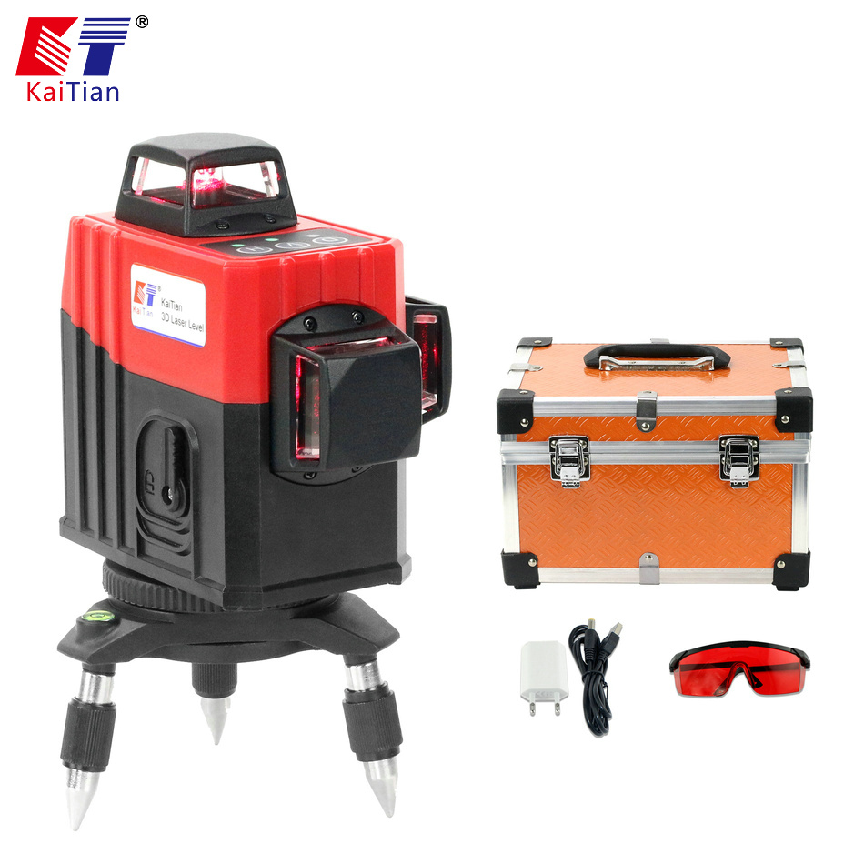 KaiTian 3D Laser Level 360 Rotary Nivel Laser 12 Lines Lazer Level Self Leveling Horizontal Vertical Building Construction Tools цена