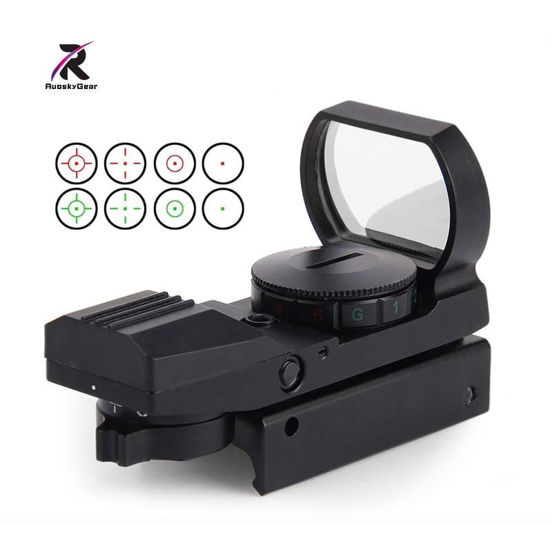 Airsoft Hunting Riflescope Top <font><b>11mm</b></font> / 20mm Rail Optics Scope Holographic Red Dot Sight Reflex 4 Reticle Tactical Gun Accessories