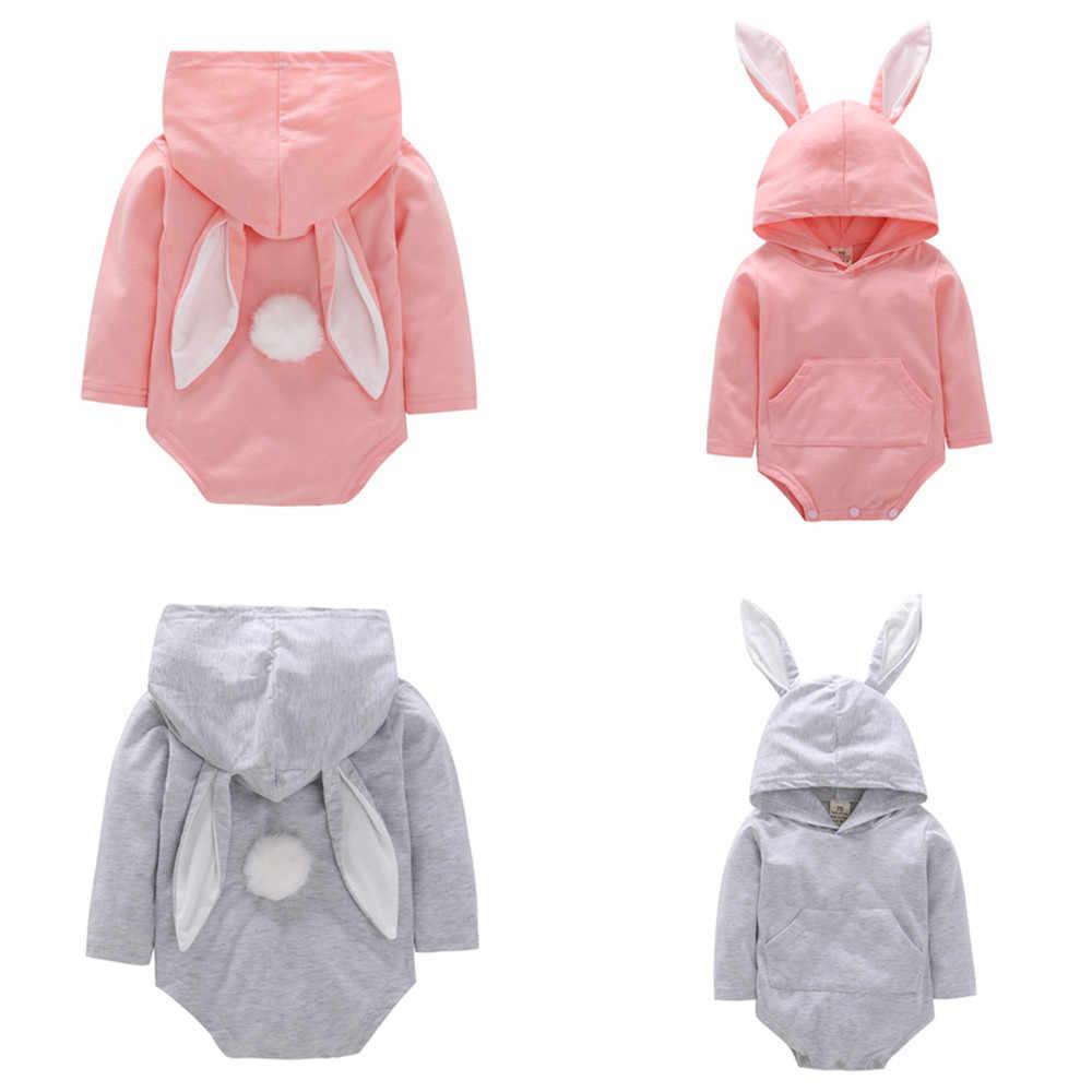 d74ed1701a6 Newborn Baby Boy Romper Infant Bebe Girl Jumpsuit baby costume Kigurumi Toddler  Long Sleeve Playsuit Rabbit
