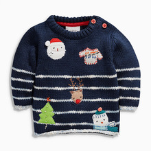 Baby Fashion Winter Autumn Infant Knitted Sweater Boys Cartoon Snow man Outerwear Clothes cotton Kids O-neck knitted sweater