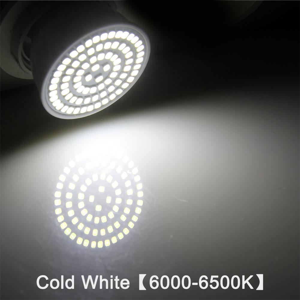 E27 Светодиодный светильник GU10 Светодиодный светильник 220 В SMD 2835 MR16 прожектор 48 60 80 светодиодный s теплый белый холодный белый свет для украшения дома ампулы - Испускаемый цвет: cold white