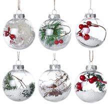 2018 romantyczny projekt świąteczna bombka dekoracyjna przezroczysta puszka z tworzywa sztucznego boże narodzenie wyczyść cacko bombka na prezent obecne 0 tanie tanio Z ISHOWTIENDA 1 szt Christmas Ball Christmas Ball Ornaments
