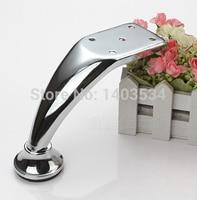 2pcs 11 2cm Height Glossy Shiny Iron Wardrobe Leg Cabinet Leg Sofa Leg With Rubber Base