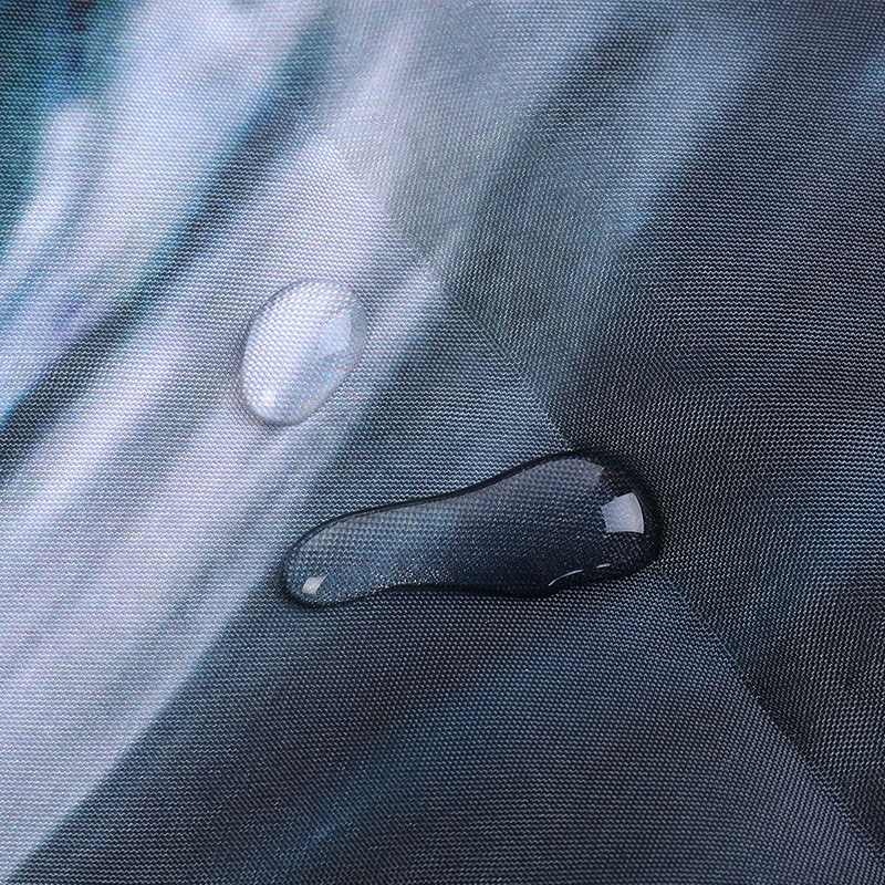 Pancuran Tirai 100% Anti-Air Poliester Bathroom Pancuran Tirai Biru Laut Pola Kain Rumah Dekor 1 Pc