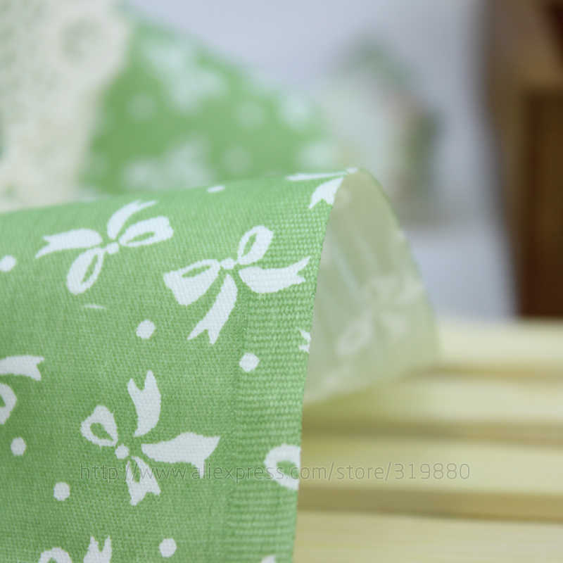 5 шт. Зеленая Ткань банта фарбик 100% хлопок Ткань для шитья лоскутный кошелек брендовая ткань 40 см * 50 см