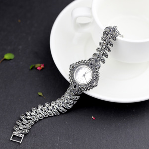 Image 5 - ใหม่ Elegant ธุรกิจ 925 เงินสเตอร์ลิงสตรีฤดูใบไม้ร่วงสร้อยข้อมือนาฬิกา