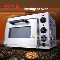 1pc Stainless steel electric EP1A home pizza oven thermometer / mini oven / bread oven 220V/50Hz Baking size 35 * 34.5 * 20CM