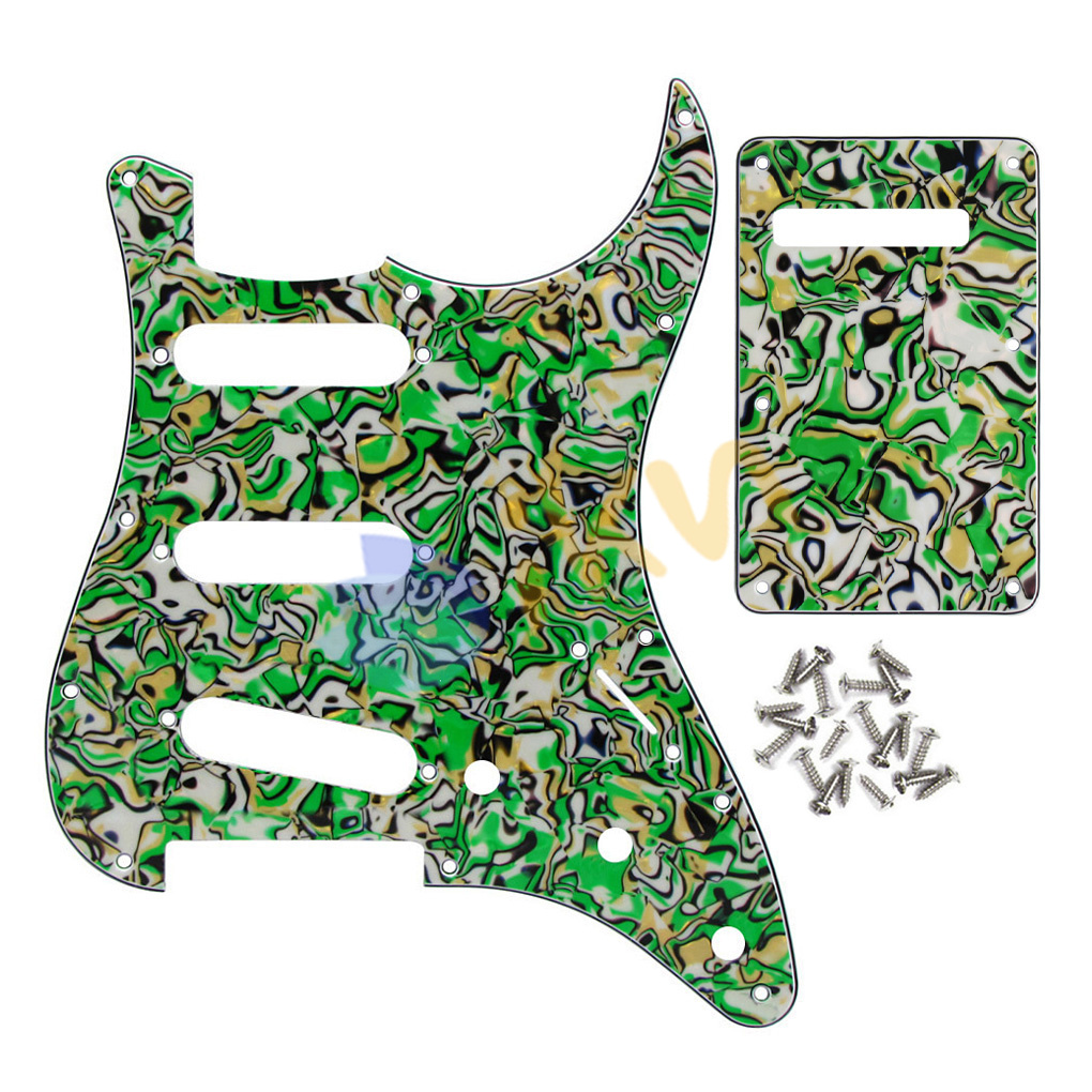 new pickguard sss 3 ply back plate tremolo cover with 25. Black Bedroom Furniture Sets. Home Design Ideas