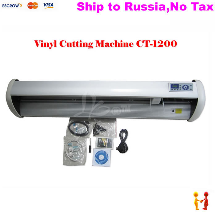 (NO TAX TO Russia) Factory supply Cutting plotter cut to thermal transfer print t-shirt or other cloth 220/110V no tax to russia cnc 5 axis t chuck type include a aixs