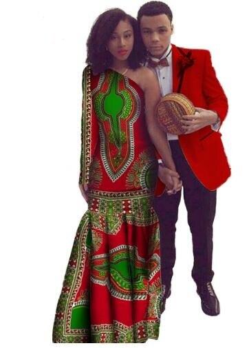 Халат африканского времени ограниченные прямые продажи Африканский Dashiki платья из 2018 хлопка с принтом африканских платье пары костюмы (жен