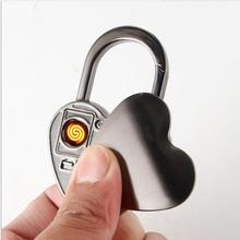 Любовь модельная Зажигалка USB электрическая зарядка зажигалка с оригинальной ZOBO Подарочная коробка chiristmas подарок Вольфрам Ключ Пряжка