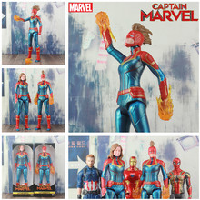 2019 Movie Captain Marvel Carol Danvers Action Figure Avengers Endgame 12″ Titan Hero America Iron Spider Man MK50 Kid Toys Doll