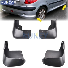 Front Rear Molded Car Mud Flaps For Peugeot 206 Hatchback Hatch 1998 2012 Mudflaps Splash Guards Mud Flap Mudguards Fender