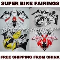 Injection ABS Plastic Fairing Kit For Yamaha YZF R6 2006 2007 RED WHITE YELLOW YZF R6 06 07 Body Work