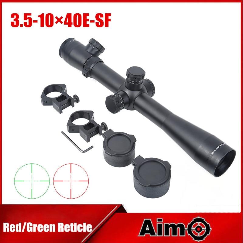 Aim-O Sniper Rifle Optics Collimator Sight Scope 3.5-10X40 SF Illuminated Aiming Device M3 Style 1Set AO 5305 magpul g lt p moe sniper rifle limited edition