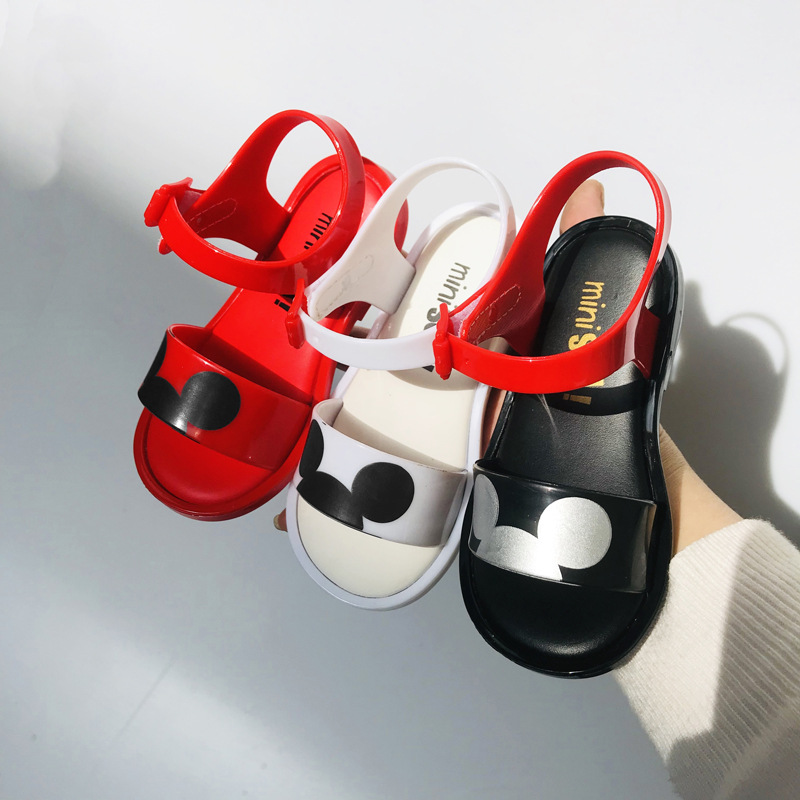 Mini Melissa2019 New Mickey Girl Sandals Jelly Sandals Children's Beach Shoes Girl Shoes Minnie Melissa Soft Candy Shoes SH19010