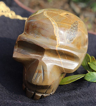 Natural Quartz Crystal Turtle Back Stone Carving Skull Reiki Therapy Natural Sculpture And Home Decoration Gifts