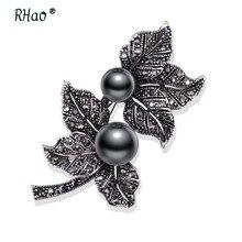 RHao font b Elegant b font Black Butterfly Brooch pins for women wedding party font b
