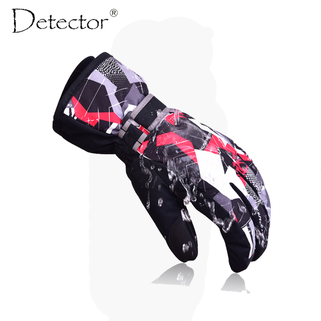 Детектор лыжные перчатки для сноуборда мужские Для женщин детские зимние перчатки Восхождение Велоспорт высокое качество ветрозащитные непромокаемые перчатки