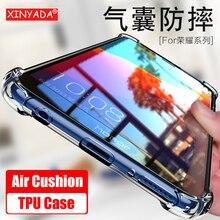 ФОТО xinyada transparent crystal case for huawei honor 10 9 lite honor10 v10 air cushion bumper shockproof tpu funda shell back cover