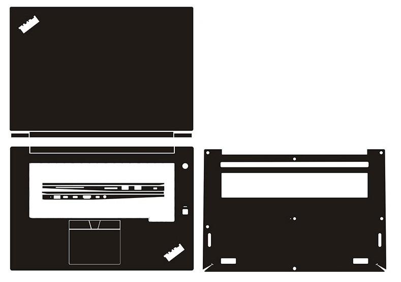 Laptop Carbon Fiber Vinyl Skin Sticker Cover For Lenovo ThinkPad X1 Extreme /P1 1st/2nd Gen 15.6