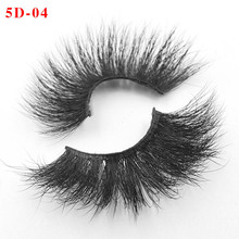 NEW 5 Pairs 3D Mink Hair False Eyelashes Criss-cross Wispy Cross Fluffy 25mm Lashes Extension Handmade Eye Makeup Tools