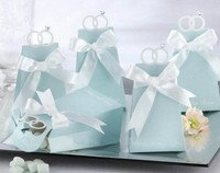 100 adet/grup 6.5*5*10 cm elmas yüzük Desen Favor Hediye Şeker Kutusu Bomboniere Kutuları Düğün gelin şerit wc064 ile duş