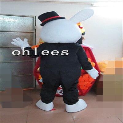 Ohlees een oor bunny Mascotte Kostuum Halloween kerstfeest Props Kostuums Voor Volwassen cartoon dier aanpassen - 3