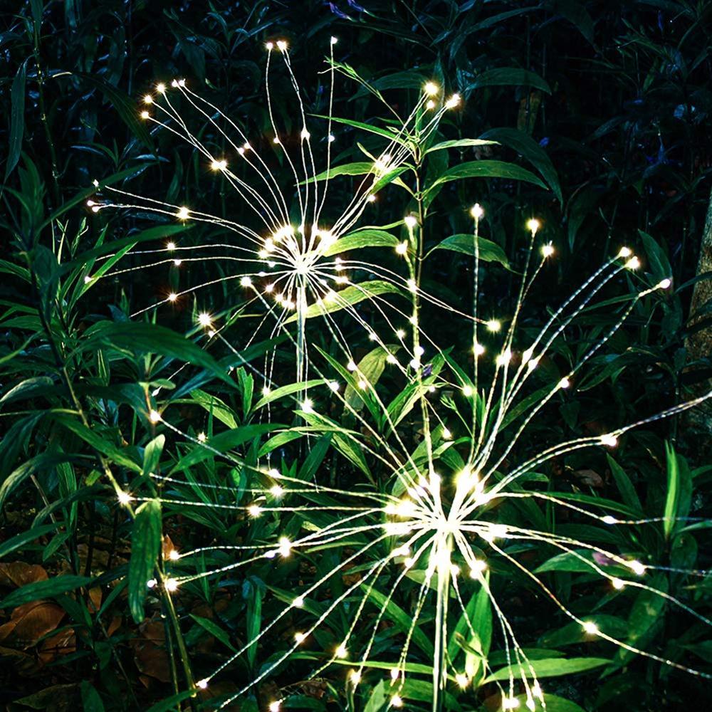 Dandelion Shape Solar Lights For Garden Decoration LED Outdoor Path Explosion Star Landscape Lawn Decking Night Led Solar Lamp